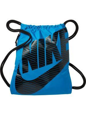 Мешок для обуви NIKE HERITAGE GYMSACK. Цвет: голубой, черный