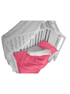 Детское постельное белье БИОСОН. Цвет: розовый