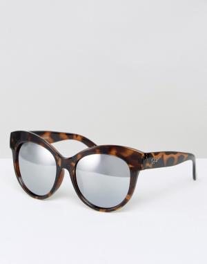 Quay Australia Солнцезащитные очки в черепаховой оправе Miaden. Цвет: коричневый