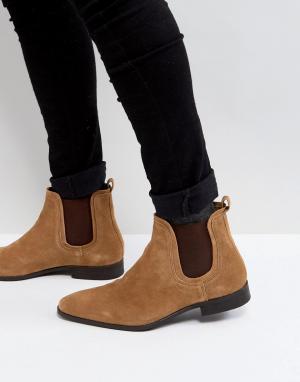 Zign Замшевые ботинки челси коньячного цвета. Цвет: коричневый