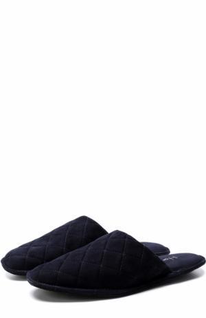 Домашние замшевые туфли Homers At Home. Цвет: темно-синий