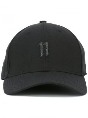 Кепка с вышивкой логотипа 11 By Boris Bidjan Saberi. Цвет: чёрный