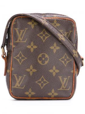 Сумка через плечо с логотипом Louis Vuitton Vintage. Цвет: коричневый