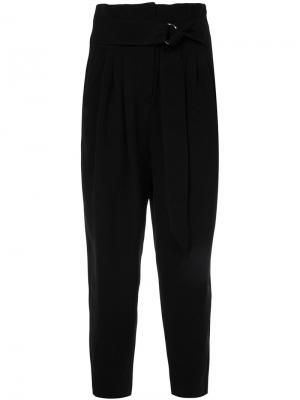 Укороченные брюки с поясом Cyclas. Цвет: чёрный