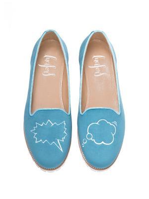 Слиперы - Спич Бабл Lucifer's shoes. Цвет: голубой