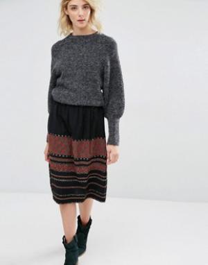 Gat Rimon Мини-юбка с вышивкой Irala. Цвет: мульти