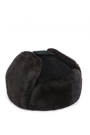 Замшевая шапка с отделкой из меха шиншиллы 159463 Zilli. Цвет: черный