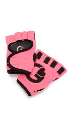 Спортивные перчатки ярко-розового и черного цвета G-Loves