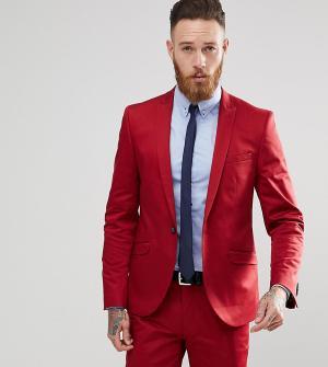 Heart & Dagger Приталенный пиджак из хлопкового атласа. Цвет: красный