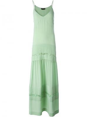 Плиссированное платье Rochas. Цвет: зелёный