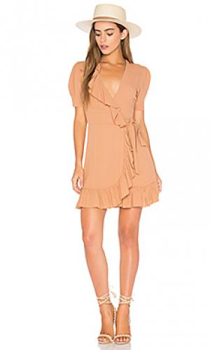 Платье june Privacy Please. Цвет: коричневый