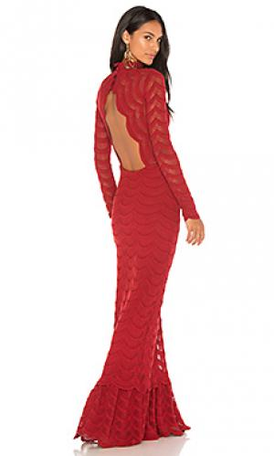 Кружевное вечернее платье classic fiesta Nightcap. Цвет: красный