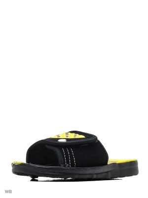Шлепанцы Effa. Цвет: черный, желтый