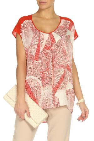 Блузка DKNY. Цвет: красный