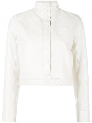 Куртка Vynil Courrèges. Цвет: телесный