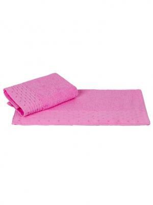 Махровое полотенце 50x90 GOFRE розовое,100% хлопок HOBBY HOME COLLECTION. Цвет: розовый