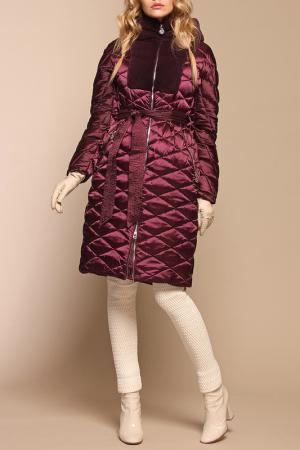 Пуховое пальто Naumi. Цвет: винный