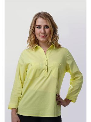 Блузка Alona. Цвет: желтый