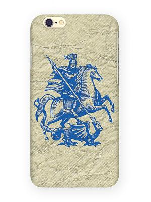 Чехол для IPhone 6 Георгий Победоносец Mitya Veselkov. Цвет: серебристый, красный, желтый