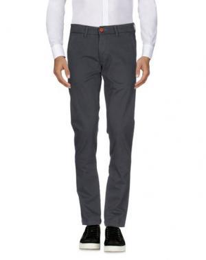Повседневные брюки RANSOM. Цвет: свинцово-серый