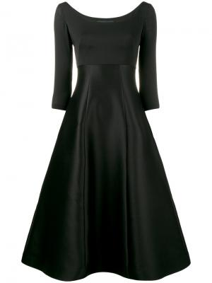 Платье-миди Vika Gazinskaya. Цвет: чёрный