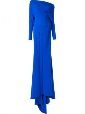 Вчернее платье Greta Constantine. Цвет: синий