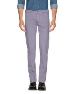 Повседневные брюки BARBA Napoli. Цвет: сиреневый