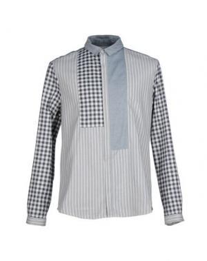 Pубашка RICHARD NICOLL. Цвет: серый