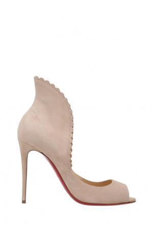 Замшевые туфли Pijonina 100 Christian Louboutin. Цвет: розовый