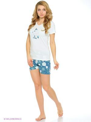 Комплект одежды Vienetta Secret. Цвет: бирюзовый, белый