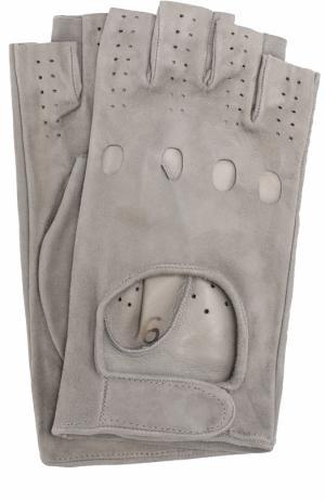 Кожаные перчатки Sermoneta Gloves. Цвет: светло-серый