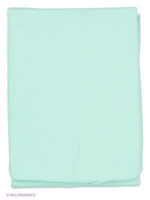 Простынь на резинке Kupu. Цвет: голубой