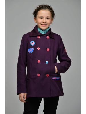 Пальто DESTY. Цвет: темно-фиолетовый
