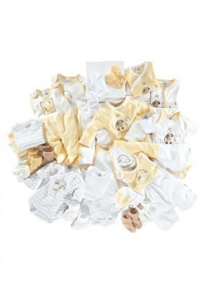 Комплект для новорожденного, 42 части KLITZEKLEIN. Цвет: желтый/белый