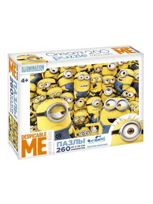 Minions. Пазл 260 элементов Жёлтое безумие в чемоданчике. Minions. Цвет: белый, синий, желтый
