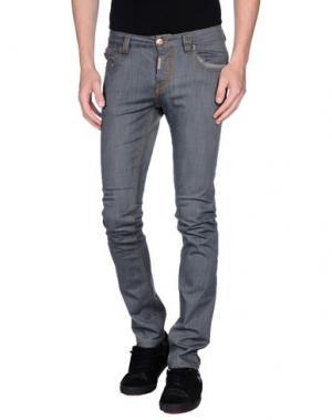 Джинсовые брюки BONAVITA. Цвет: серый
