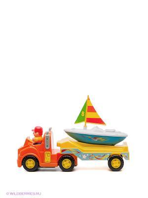 Игрушка Трейлер для яхты Kiddieland. Цвет: желтый, оранжевый