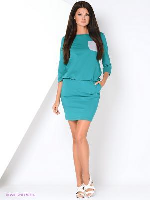 Костюм (юбка, свитшот) MONDIGO. Цвет: зеленый