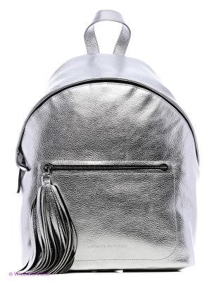 Рюкзак с кистью Avanzo Daziaro. Цвет: серебристый
