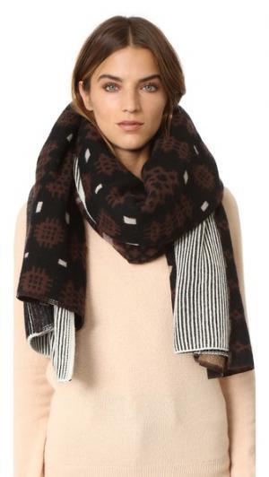 Объемный клетчатый шарф Inga Standard Form