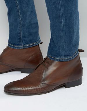 Base London Кожаные ботинки чукка Trader. Цвет: коричневый