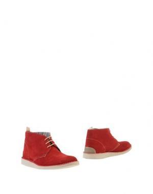 Полусапоги и высокие ботинки ANGELO NARDELLI. Цвет: красный