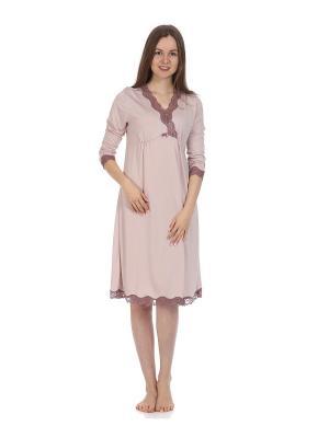 Ночная сорочка MARIPOSA. Цвет: бледно-розовый