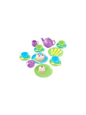 Игровой набор кухонной и чайной посуды Casdon (36 предметов). Цвет: зеленый