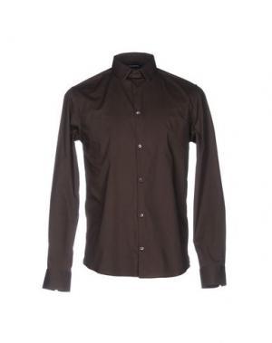 Pубашка COSTUME NATIONAL HOMME. Цвет: темно-коричневый