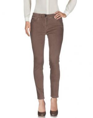Повседневные брюки PESERICO SIGN. Цвет: светло-коричневый