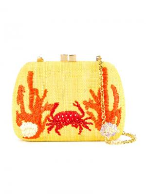 Embroidered clutch Serpui. Цвет: жёлтый и оранжевый