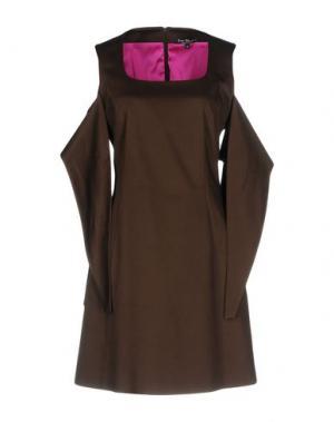 Короткое платье IVAN MONTESI. Цвет: темно-коричневый