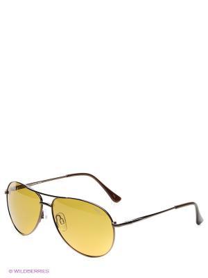 Очки солнцезащитные Legna. Цвет: коричневый, желтый