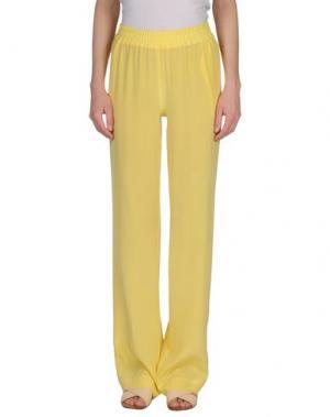 Повседневные брюки SI-JAY. Цвет: желтый